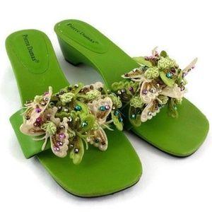 Pierre Dumas Green Butterfly Sandals